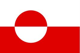 Grønlandsk flag, Grønland, flag, nationalflag, rød og hvid