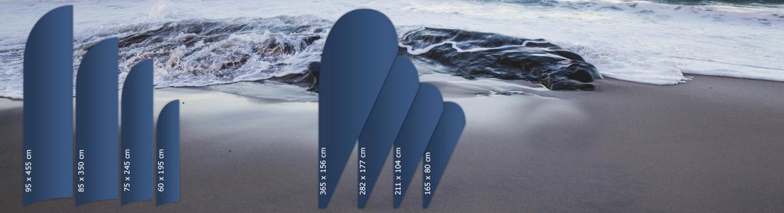 beachflag, strand, drop shape, feather shape