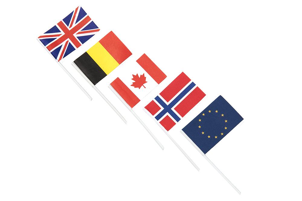 Kageflag, papirflag, nationalflag
