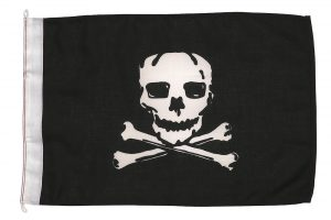 sørøverflag, piratflag, jolly rogers, legehusflag, legeflag