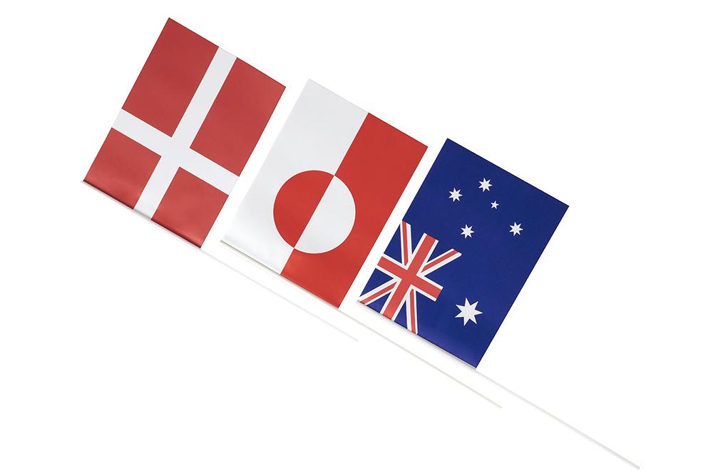 papirflag, udenlandske flag, festflag